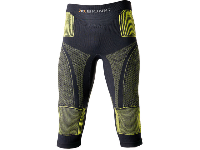 X-Bionic Accumulator Evo Pantaloni Uomo, charcoal/yellow